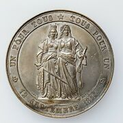Geneva Joins The Confederation Of Switzerland 50th Anniv. Medal By Bovy Andcurren174