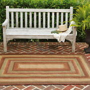 Canterbury Gold Pure Comfort Braided Rug - Rectangle 6 X 9 Ft - Indoor/outdoor