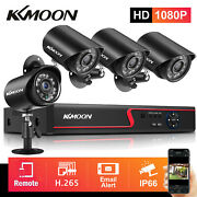 Kkmoon 4ch H.265+ 5mn 5in1 Dvr 1080p Outdoor Home Security Ir Camera System Kit