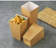 100pcs Kraft Paper Popcorn Boxes Candy Snacks Favor Bags Birthday Party Supplies