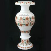 12 Inches Marble Decorative Flower Pot With Ancient Crafts Planter Home Decor