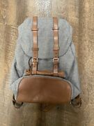 Brunello Cucinelli Wool And Leather Sketch Book Backpack