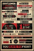 Fight Club - Framed Movie Poster Infographic - Quotes And Facts 24 X 36