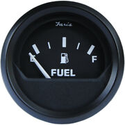 Faria 2 Fuel Level Gauge Metric - Euro Black