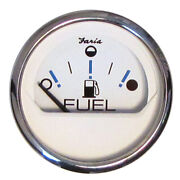 Faria Chesapeake White Ss 2 Fuel Level Gauge - Metric E-1/2-f