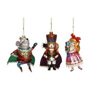 Mark Roberts 2018 Nutcracker Glass Ornament Assortment Of 3 Large 5-6 Inches