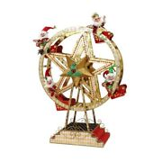 Mark Roberts Christmas 2016 Ferris Wheel With Elves Figurine, 43 Inches