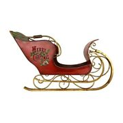 Mark Roberts Christmas 2015 Santaand039s Sleigh Figurine 56 X 34 Inches Red/gold