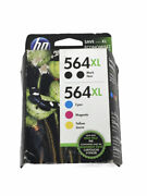 Genuine Hp Ink 564xl Combo Pack | Double Black, Cyan, Magenta, Yellow | Expired