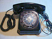 Black Stromberg Carlson Model 1443a Rotary Telephone Cleaned Tested Inspected