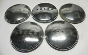 1941-42-43-44-45-46-47-48-49-50 Buick Hubcaps Lot Of 5