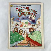Vintage 1985 Twas The Night Before Christmas Hardcover Big Golden Book Amazing