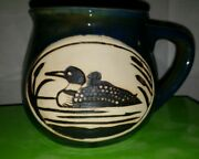 Mother Loon With Chick, Cape Shore Green W/blue Tent, Coffee Mug 2017, Minnesota