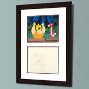 The Pink Panther Show Framed Original 1970s Production Cel And Sketch Antiques