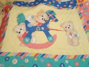 Novelty Cotton Prequilted Double-sided Fabric Panel Juvenile Baby Blanket New