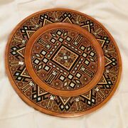 Collectible Unique Ukrainian Inlaid Decorative Plate