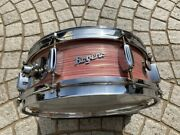 Rogers Snare Drum Holiday Model Made In Cleveland Wine Red Ripple Pearl F/s
