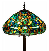 Style Stained Glass Floor Lamp Azure Sea W/ 20 Shade - Free Ship Usa