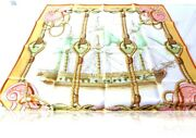 Scarf Hermes Tribord Rare Gold Edition . Vintage . Superb A + Collectible