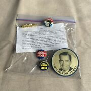 1960 Presidential Campaign Buttons John F. Kennedy And Nixon / Lodge