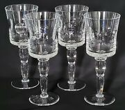 4 Saint Louis Crystal Cosmos Water Goblets, 8 7/8, Perfect