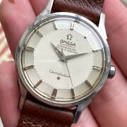 Vintage Omega Constellation Chronometer Automatic Silver Pie Pan Dial Watch