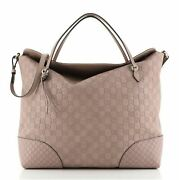 Bree Convertible Top Handle Bag Guccissima Leather Large