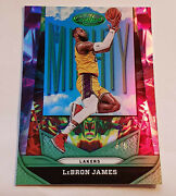 Lebron James Lakers 2020-21 Panini Certified 4/5 Green Mighty Refractor Ssp Card