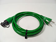 Defa 460955 Xtreme Silicone Mini Plug Green Connection Power Cord Cable 2.5m