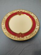 Antique Noritake Nippon Rc Hand Painted 10 Cabinet Plate Gold Moriage 1911andnbsp