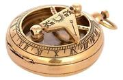 Nautical 2 Compass Solid Brass Hand-made Push Button Sundial Compass Lot Of 50