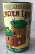Vintage Lincoln Logs-frontier Fort-real Wood Logs-nos Factory Sealed 00905
