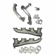 Ppe High Flow Exhaust Manifolds W/ Up Pipes 2002-2004 Chevy Gm Ca Lb7 Duramax