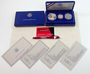 1886-1986 Us Statue Of Liberty 3 Coin Commemorative Proof Set