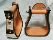 3 Bell Stirrups Nickel - Inside Lined With Leather