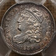 1836 Lm-5 Small 5 Bust Half Dime Pcgs Unc Det Seriously Davidkahnrarecoins