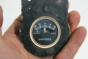 Ford Model T Vintage Small 1 5/8 Amp Gauge In Mounting Plate