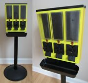 Ultra-vend Triple 3 Three Vending Machine Gumball Candy Yellow Base 25 Cent