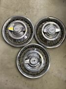 62 63 Chevrolet Corvair Chevy Ii Hubcaps Lot Of 3 Wheel Covers Hub Cap 13 Wire
