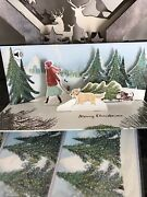 4 Pop-up Panoramic Musical Christmas Cards Tree Cutting - Up With Paper Nip