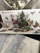 4 Pop-up 3d Musical Christmas Cards Outdoor Tree Trimming New In Pkg