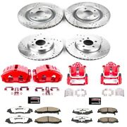 Kc1418b-26 Powerstop Brake Disc And Caliper Kits 4-wheel Set Front And Rear