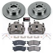 Kcoe788 Powerstop 2-wheel Set Brake Disc And Caliper Kits Front For Protege