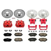 Kc4098 Powerstop Brake Disc And Caliper Kits 4-wheel Set Front And Rear For Mazda