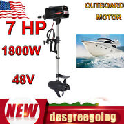 1800w Brushless Electric Outboard Motor Fishing Boat Engine Tiller Control Usa