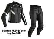 Rst Sabre 2021 Motorcycle Sports Ce Leather Jacket/trousers 2pc Black/white