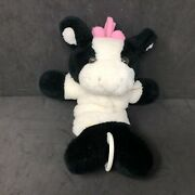 Soft Dreams Cow Crib Pull Black And White Plush Baby Toy Plays Twinkle Little Star