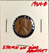 1964 D Lincoln Cent Size Of A Roosevelt Dime.