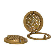 Groco Bronze Round Hull Strainer W/ Access Door For Up To 4 Thru-hull Rsc-4000