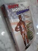 Duty Honor Country By Medal Of Honor Winner Bud Day - Signed Free Shipping